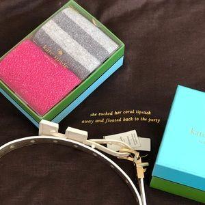 3 For $20 ❣️ NIB Kate Spade 2 pair Shimmer Socks